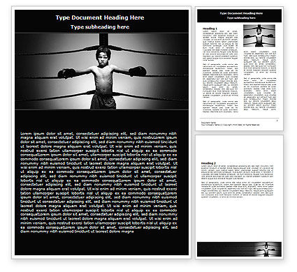 Young Boxer Word Template