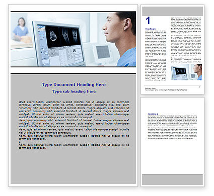 Tomography Research Word Template, 06364, Medical — PoweredTemplate.com