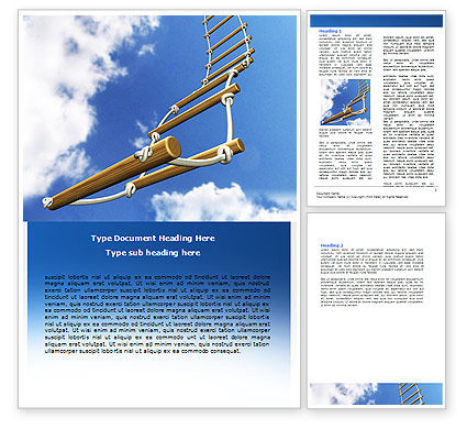 Rope Ladder Word Template, 06366, Consulting — PoweredTemplate.com