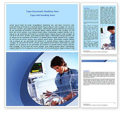 Special Care Nursery Word Template, 06368, Medical — PoweredTemplate.com