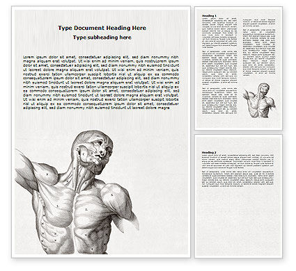 Medical: Body Muscles Word Template #06387
