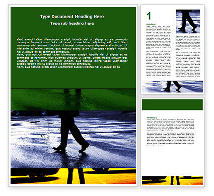 Sidewalk Word Template, 06389, Business Concepts — PoweredTemplate.com