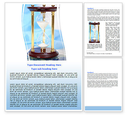 Ancient Hourglass Word Template, 06392, Consulting — PoweredTemplate.com