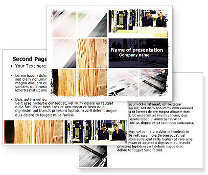 newspaper template for powerpoint. Newspaper Printing PowerPoint