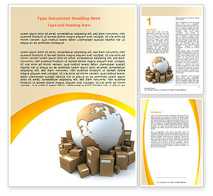 Packages Word Template, 06394, Careers/Industry — PoweredTemplate.com