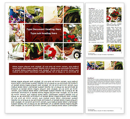 Pot Plants Word Template, 06395, Careers/Industry — PoweredTemplate.com