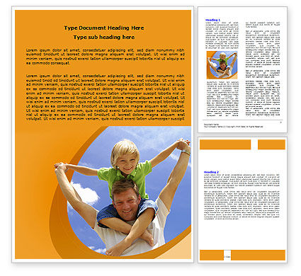 Fatherhood Word Template, 06400, People — PoweredTemplate.com