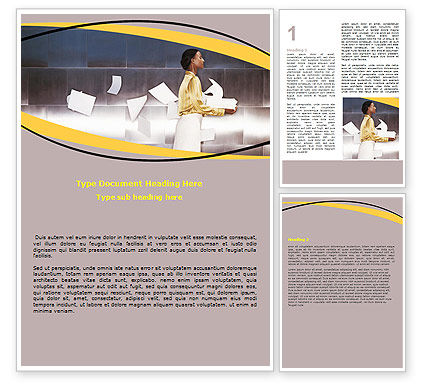 Business Concepts: Clerk Work Word Template #06405