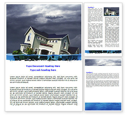 Mortgage Crisis Word Template, 06410, Construction — PoweredTemplate.com