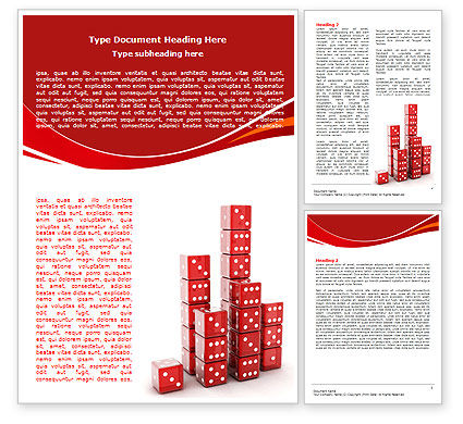 Dice Bar Chart Word Template, 06415, Business Concepts — PoweredTemplate.com