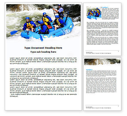 Whitewater Rafting Word Template, 06429, Sports — PoweredTemplate.com