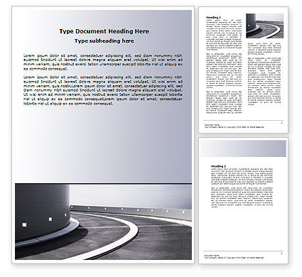 Turn Word Template, 06430, Construction — PoweredTemplate.com
