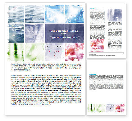 Abstract/Textures: Progressive Technology Word Template #06433