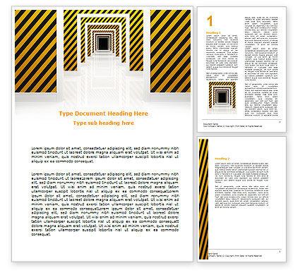 Business Concepts: Dangerous Path Word Template #06435