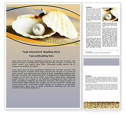 Pearl Shell Word Template