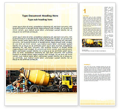 Construction: Concrete Agitator Word Template #06449