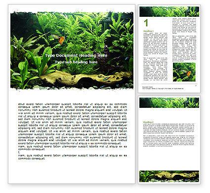 Nature & Environment: Aquarium Fish Species Word Template #06452