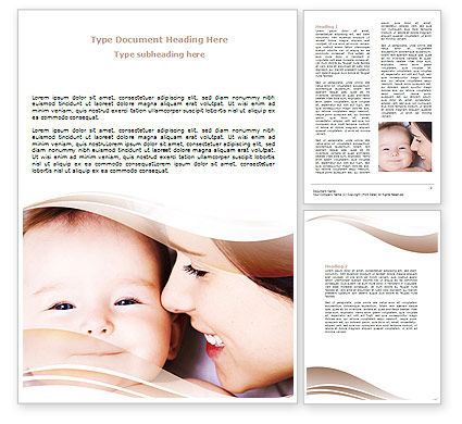 Baby Smile Word Template, 06456, People — PoweredTemplate.com
