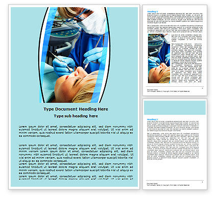 Medical: Dental Surgery Word Template #06457