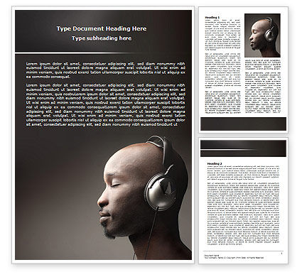 Easy Listening Word Template, 06458, Art & Entertainment — PoweredTemplate.com