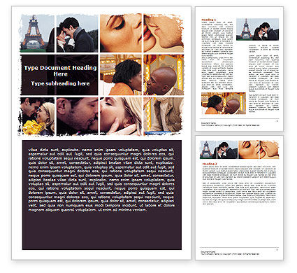 Kissing Word Template, 06462, Holiday/Special Occasion — PoweredTemplate.com
