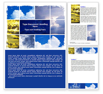 Nature & Environment: Various Clouds Word Template #06464