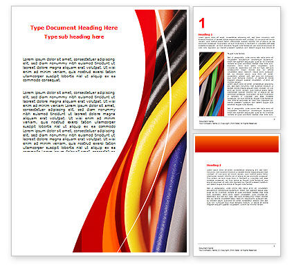 Telecommunication: Cables Word Template #06465