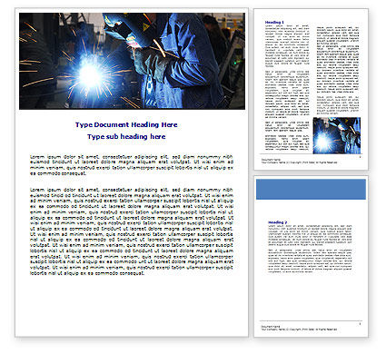 Arc Welding Word Template, 06470, Utilities/Industrial — PoweredTemplate.com