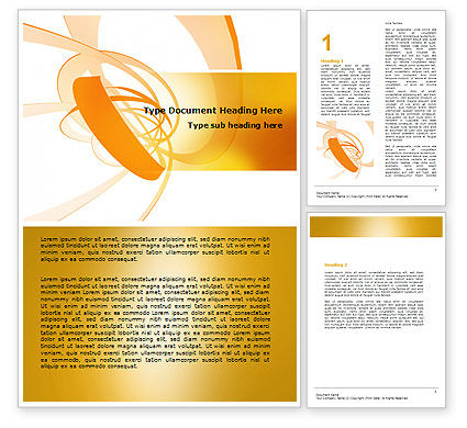 Abstract/Textures: Orange Ribbon Word Template #06472