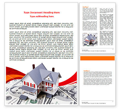 Credit On Mortgage Word Template, 06473, Financial/Accounting — PoweredTemplate.com
