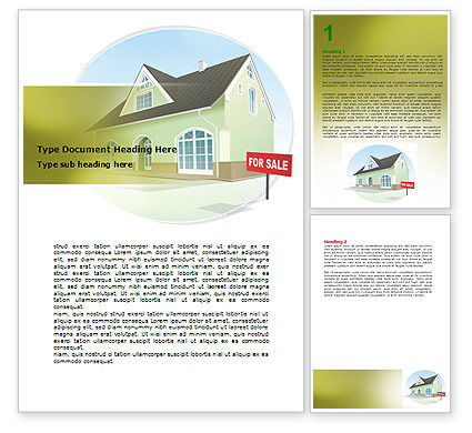 Careers/Industry: Realty For Sale Word Template #06479
