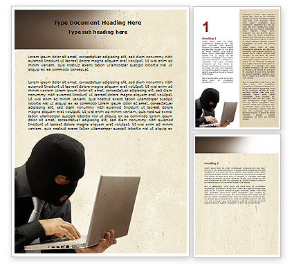 Hacking Word Template, 06485, Legal — PoweredTemplate.com