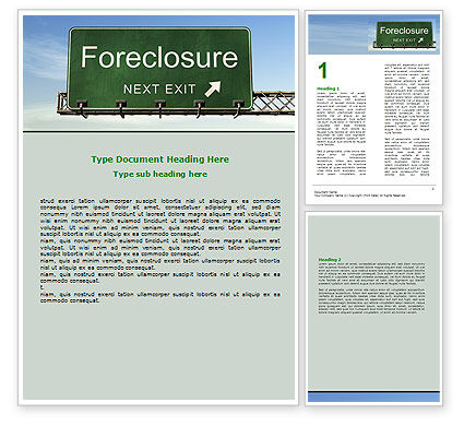Foreclosure Word Template