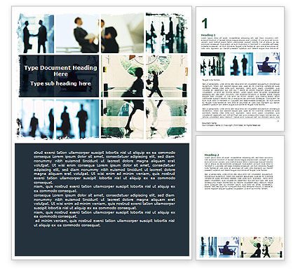 Business: Business Personal Contacts Word Template #06507