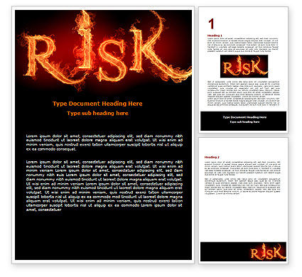 Consulting: Word Risk In Fire Word Template #06516