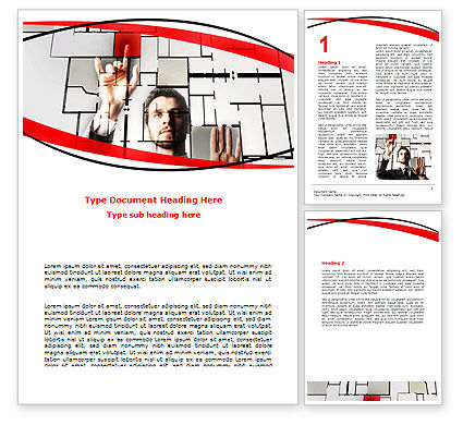 Architect on Work Word Template, 06518, Consulting — PoweredTemplate.com