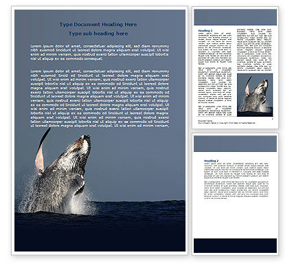 Humpback Whale Word Template#1