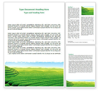 Agriculture and Animals: Tea Plantation Word Template #06526