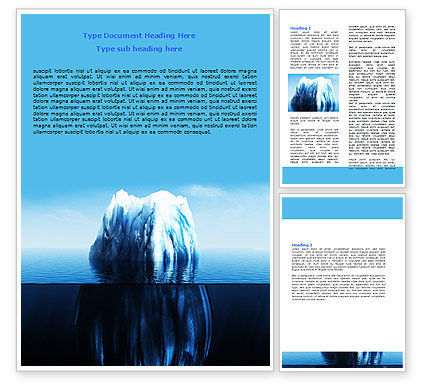 Ice Berg Word Template, 06528, Nature & Environment — PoweredTemplate.com