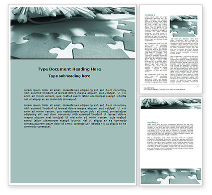 Jigsaw Word Template, 06532, Business — PoweredTemplate.com