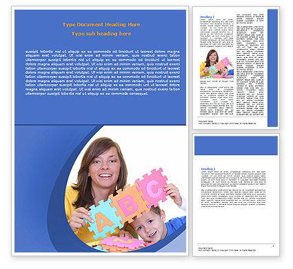 Home Education Word Template, 06538, Education & Training — PoweredTemplate.com