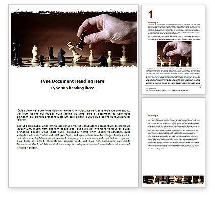 Chess Tactics Word Template, 06544, Business Concepts — PoweredTemplate.com