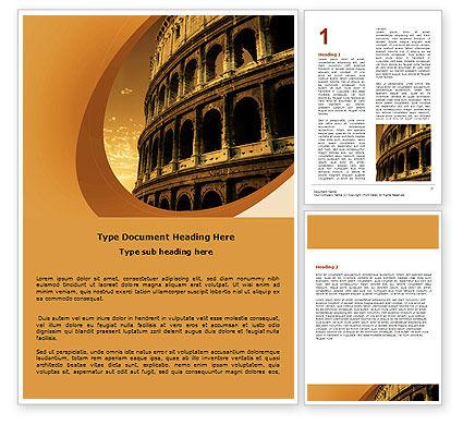 Colosseum Word Template, 06549, Construction — PoweredTemplate.com