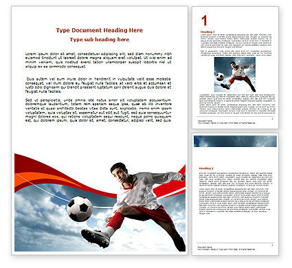 Penalty Kick Word Template, 06550, Sports — PoweredTemplate.com