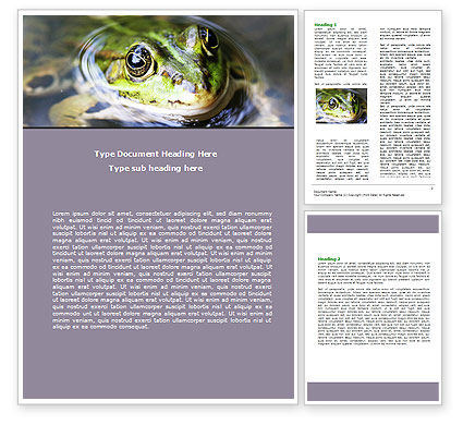 Marsh Frog Word Template