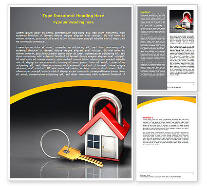 Turnkey House Word Template, 06556, Financial/Accounting — PoweredTemplate.com