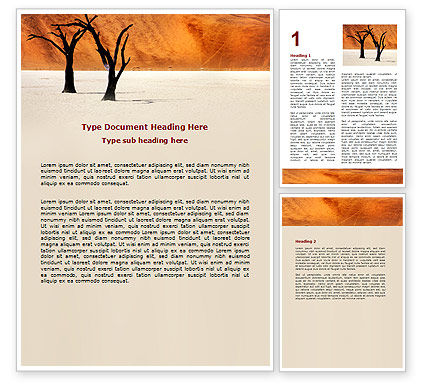 Free Desert Trees Word Template