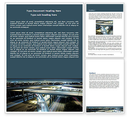 Construction: Junction On Highway Word Template #06566