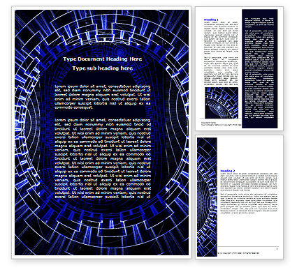 Abstract/Textures: Fantasy Blue Design Word Template #06567