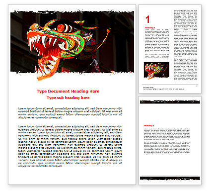Holiday/Special Occasion: Carnival Dragon Word Template #06572